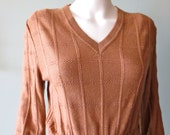 Vintage 1970s Chic Carmel Brown Lanvin Sweater Dress