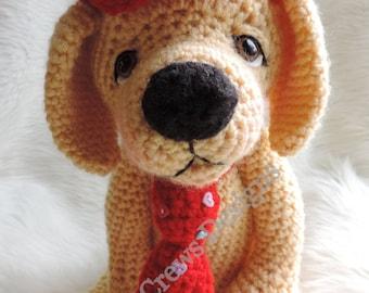 Cute Yellow Dog Crochet Pattern by Teri Crews