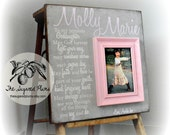 Goddaughter, Baby Girl, Baby Boy, Baby Frame, Personalized Baby Frame, Baby Gift, Baptism Gift, Christening Gift, 16x16 The Sugared Plums