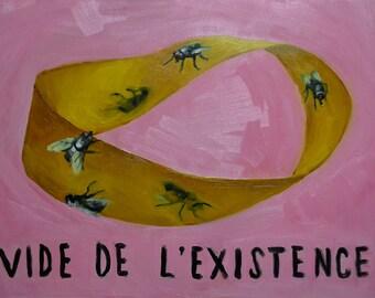 Vide de L'Existence (deux), Original Oil Painting
