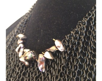 Diva Black Pearl Spring Drama Waterfall Necklace