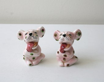 Pink Puppy Salt and Pepper Shakers