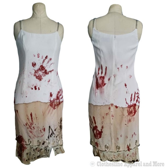 Zombie Dress M Medium 8 Costume Walking Dead OOAK Hand Painted