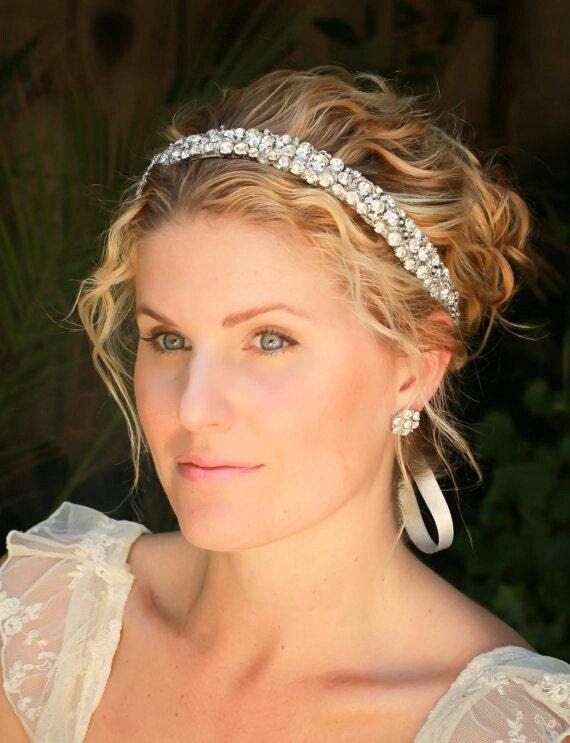 Molly Rhinestone wedding headband, bridal headband, bridal hair accessories, wedding accessories