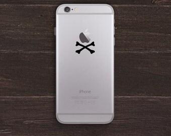 iPirate Crossbones Vinyl iPhone Decal BAS-0127