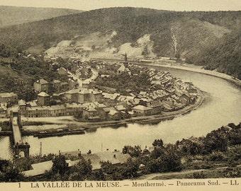 Vintage Unused Postcard - Monthermé, Meuse Valley, Ardennes, France