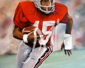 Archie Griffin - Ohio State Buckeyes - Fine Art Giclee - 8x10 Print of Original Painting