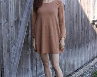 Organic Short Swing Dress- Hemp Organic Cotton Jersey Fabric