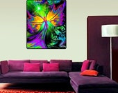 "Reiki Tapestry Energy Healing Chakra Art ""From Dark to Light"" 40"" x 50"""