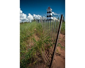 West Point Lighthouse on Prince Edward Island in Canada No. 40 - A Lighthouse Seascape Photograph