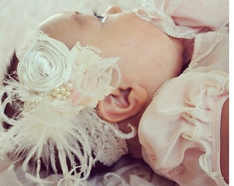 Angel Baby Rosette Headband