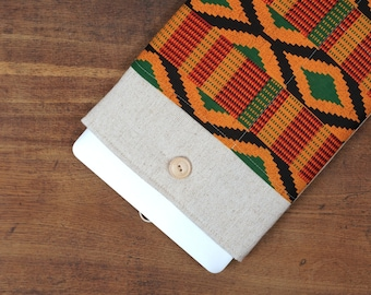 """50% OFF SALE NEW 2016 MacBook 13"""" Pro Case. African Kente Style MacBook 13"""" Air Case. Case for MacBook 13 Pro Retina. Sleeve for Mac 13 air."""