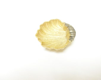 Gold Shell Jewelry Dish /