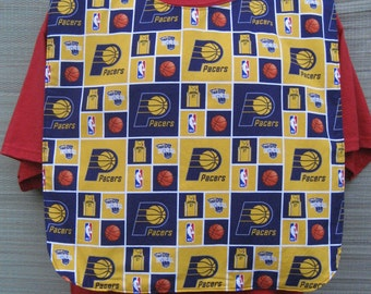 Indiana Pacers Basketball Adult Bib