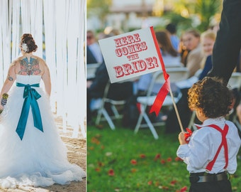 "Made To Order ""Here Comes The Bride"" Sign Rock N Roll Bride 