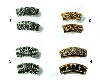pick color & pattern: swirly dread bead dreadlocks