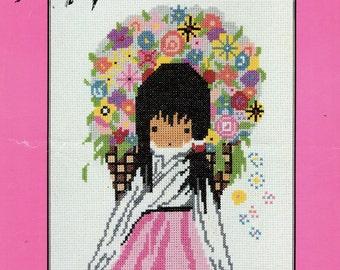 De Grazia DEGRAZIA FLOWER GIRL Sundance Designs Counted Cross Stitch Leaflet #1