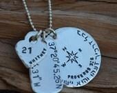 Charm Necklace - Disc, Dog Tag  & Heart or Star-Best Friends, Husband, Boyfriend, Wife, Sister, Girlfriend - Birthday, Anniversary,Christmas