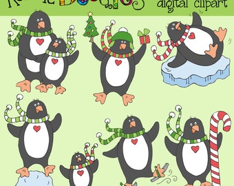 Ronnies Funky Penguins Clip art