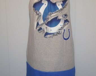 Indianapolis COLTS NFL football strapless tube top tunic shirt mini dress gray blue