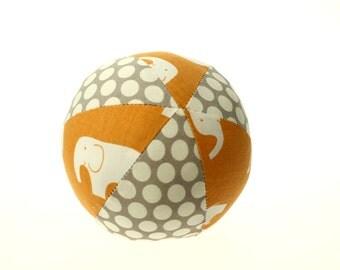 "Mod Basics Elephant Organic Cotton Small (4"") Cloth Ball"