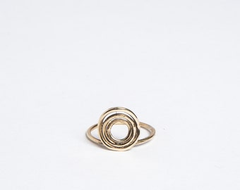 SALE Bronze Evil Eye ring Sizes 4-9