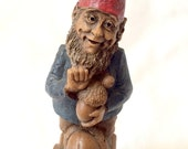 "Gnome Woodspirit Figurine Pecan Resin ""A for Alpha Acorn Australia"""