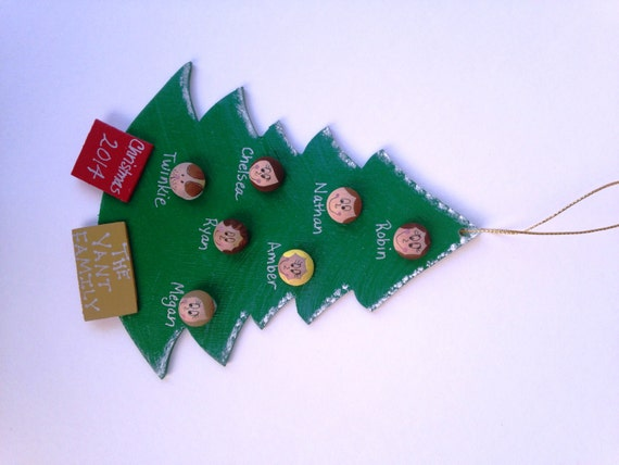 Personalized ornament family tree ornament up to by for Custom christmas tree ornaments
