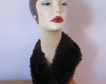 1940's Brown Fur Collar, Scarf