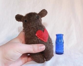 SALE!! Heart Brown Molar Bear