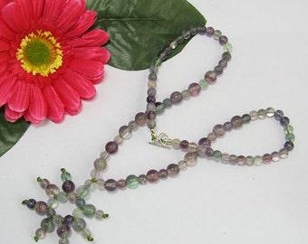 Necklace 18 inch IN Fluorite 925 Silver