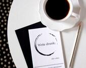 Hemingway Blank Greeting Card, Linen Envelope and Notecard, Literary Quote, Black