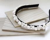 Swarovski Crystal Pearls Headband