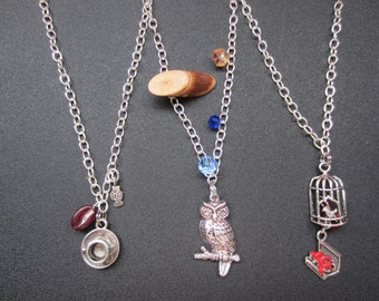 Custom necklace. Pick 4 Twin Peaks inspired charms. Chose from over 100 charms, plus glass beads.