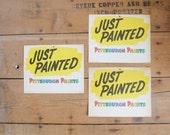 Vintage Pittsburgh Paints Lithograph Paper Wet Paint Sign