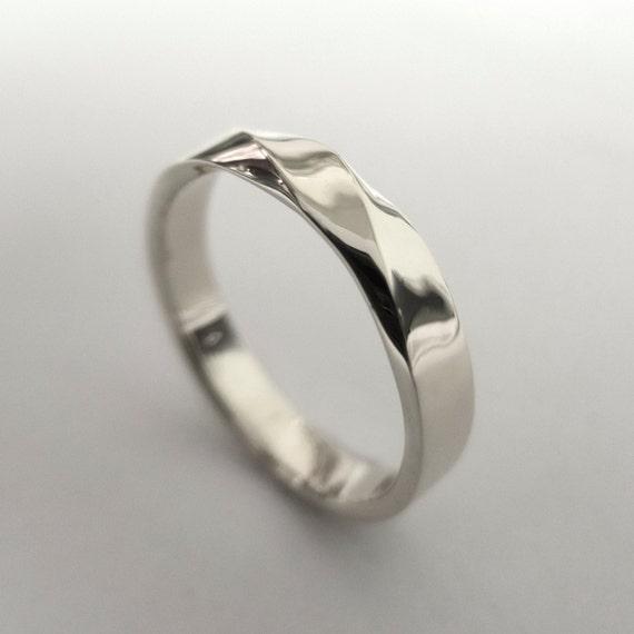 mobius ring platinum ring wedding ring platinum by doronmerav