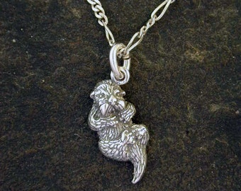 Sterling Silver Otter Pendant on a Sterling Silver Chain