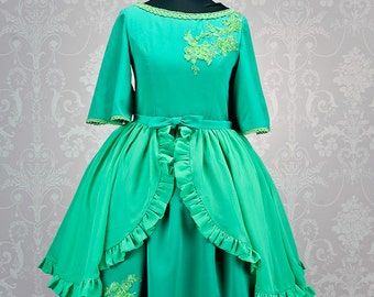 "Made to measure Disney inspired ""Tiana"" one piece Lolita dress with detachable overskirt. Made in any colour you can dream up"