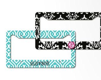 Personalized License Plate Frame -monogrammed vanity license frame, custom car tag