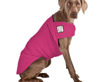 WEIMARANER Tummy Warmer, Fleece Dog Coat, Sweaters for Dogs, Dog Shirt, Dog Jammies, Spring Coat, Dog Apparel, Dog Clothing, Dog Sweatshirt