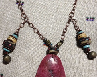 Coral Fossil Pendant POWER NECKLACE
