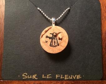 Dalek Cork Pendant Necklace