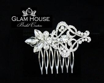 Crystal Bridal Hair comb ,Wedding Hair Accessories, Vintage wedding,large hair comb,rhinestone hair comb,prom hair accessories, head piece