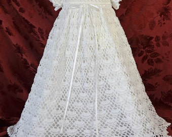 White Christening / Blessing Gown with Slip  - 3 to 6 Months - READY TO SHIP - 13129