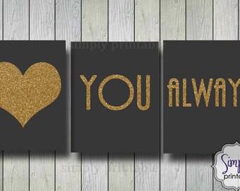 Love You Always Wall Print, Printable Digital 8x10
