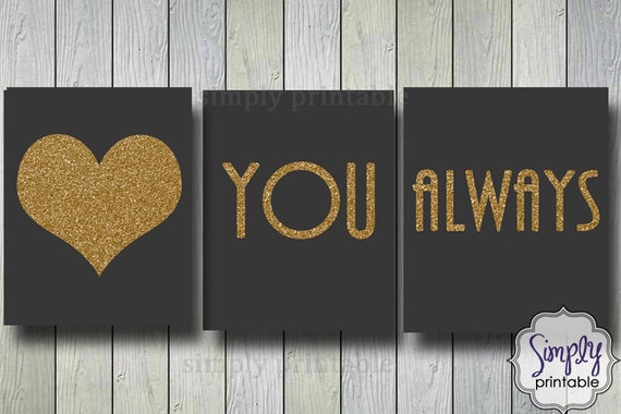 Love You Always Wall Print, Printable Digital 8x10