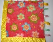 Peach Flower Cuddle Blanket