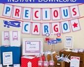 Precious Cargo Baby Shower DIY Printable Kit - INSTANT DOWNLOAD