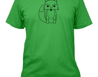 Fox Mens Shirt - 5 Colors Available - Mens Cotton T Shirt - Gift Friendly