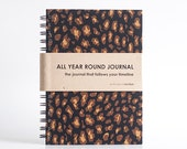 All Year Round Timeless Journal / Planner (Self-filled dates, fabric wrapped) - Cheetah Print